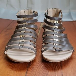 Just Fab Silver Sandals